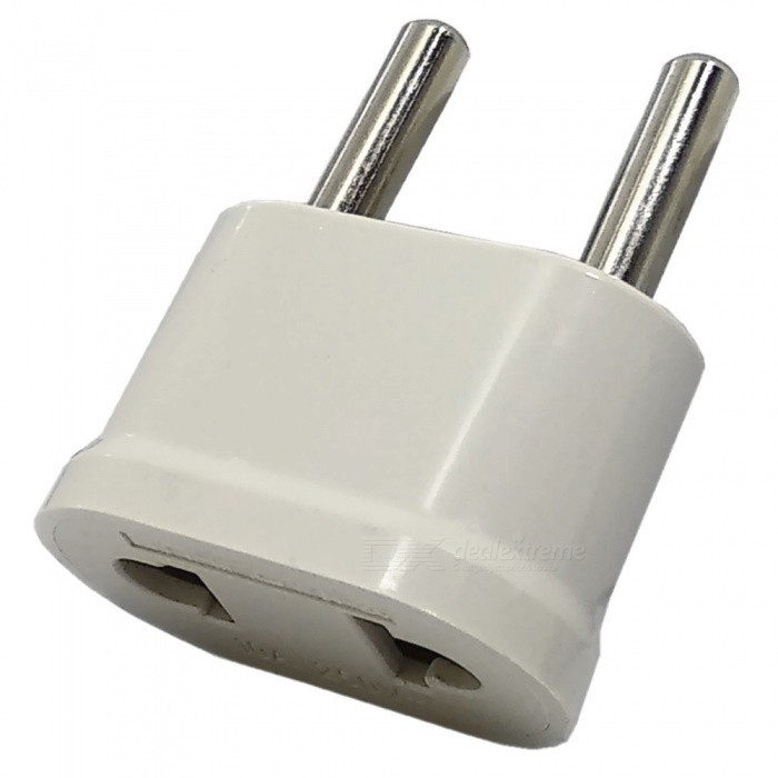 250V 10A US Socket to EU Plug - WhitePlugs &amp; Sockets<br>ColorWhitePower AdapterEU PlugModelN / AQuantity1 pieceMaterialPC + BrassFireproof MaterialYesTarget Country &amp; RegionGermany, Finland, France, Norway, Sweden, the Netherlands, Poland, Portugal, South Korea, Austria, Belgium, Spain, Hungary, Czech republic, Slovakia, Ukraine, Turkey, yi Monsieur beaucaire, Brazil, the Czech republic, Denmark, Hungary, Norway, Sweden, South Korea, Russia, Luxembourg, Finland, Thailand, Afghanistan, Argentina, Bolivia, bosnia, Bulgaria, Bangladesh, Cambodia, Cameroon, central Africa, fresh fruit, Cuba, Croatia, Egypt, Greece, Iceland, Iran, Iraq, Ireland, and Burma, Oman, Rwanda, Senegal, Tunisia, Israel, Jordan, Kuwait, Lithuania, Mongolia, etc.Rate Voltage250VRated Current10 ARated Power2500 WCompatible Plug2-Flat-Pin Plug,US Plug,EU Plug (2-Round-Pin Plug)GroundingNoWith Switch ControlNoSurge Protection FunctionNoLightning Protection FunctionNoWith FuseNoPower AdapterEU PlugPacking List1 x EU Plug<br>