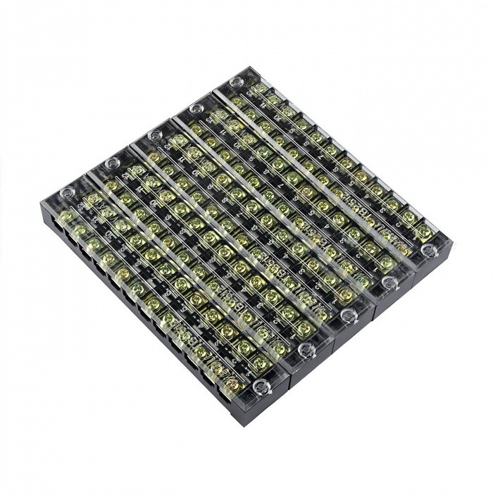 5 Pcs TB-25012 12 Positions Dual Rows 600V 25A Wire Barrier Block Terminal StripsDIY Parts &amp; Components<br>ModelTB2512ModelTB2512Quantity5 piecesMaterialCopper, PVCEnglish Manual / SpecNoOther Features600V     25ACertificationISO9001Packing List5 x Barrier Terminal Strips<br>