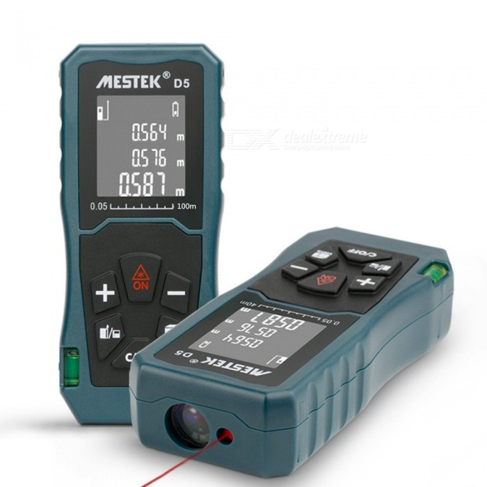 D5 100M Laser Rangefinder Roulette Laser Distance Meter Ruler Measuring TapeLaser Rangefinder, Electronic Distance Meter<br>ModelD5 100mModelD5Quantity1 piecesMaterialABSDetection Range0-100mMeasuring Accuracy2mmLaser LevelInfraredMax.Storage20DisplayReverse display screenPowered ByAAA BatteryBattery included or notYesEnglish Manual / SpecYesCertificationcePacking List1 x Laser Rangefinder1 x English Instruction<br>
