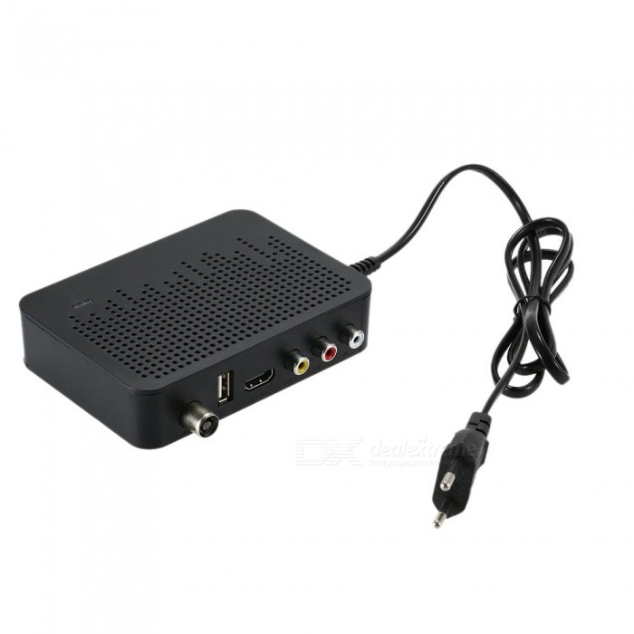 DVB-T2 Digital Video Broadcasting Terrestrial Receiver for Full HD 1080P Digital Set Top BoxTV Receivers<br>ColorBlackMaterialABSQuantity1 setShade Of ColorBlackPacking List1 x DVB-T2 Terrestrial Receiver (with EU Plug) 1 x Remote Controller 1 x RCA Cable 1 x English User manual<br>