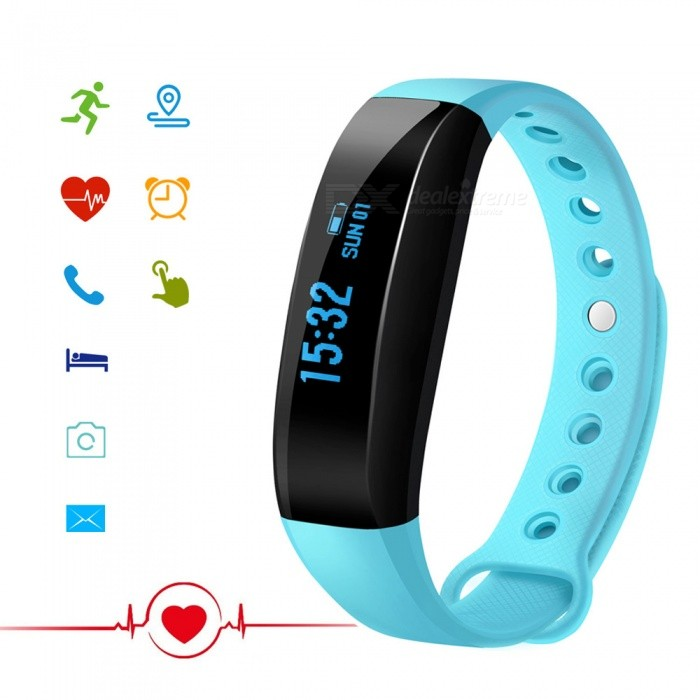 CUBOT V3 0.88 OLED Bluetooth V4.0 Smart Band Bracelet - BlueSmart Bracelets<br>ColorBlueModelCUBOT V3Quantity1 setMaterialMedical-grade TPU + PC + metalWater-proofIP65Bluetooth VersionBluetooth V4.0Touch Screen TypeOthers,OLEDOperating SystemOthers,Nordic51822 Embedded Software SystemCompatible OSCompatible with Android 4.3 and above / iOS 8.0 and above Bluetooth V4.0 smart phonesBattery Capacity80 mAhBattery TypeLi-ion batteryStandby Time7 daysCertificationCE, RoHS, WEEE, MSDS, FCC  UN 38.3Other FeaturesAPP languageGerman, English, Spanish, French, Italy, Russian, ChinesePacking List1 x Band1 x Charging Cable (Micro 5PIN)1 x User Manual<br>