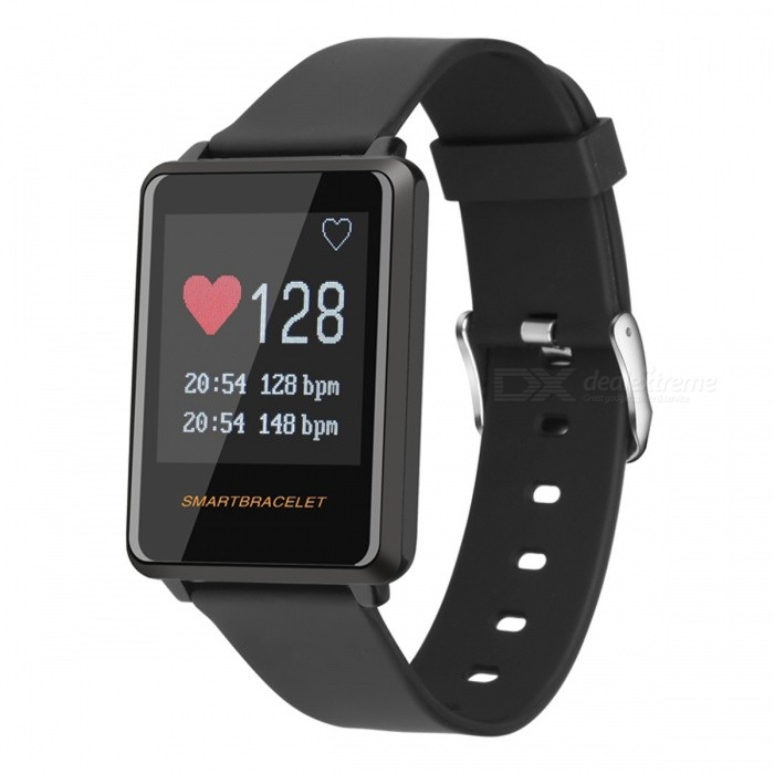 Z8 1.44 IP67 Waterproof Smart Wristband Bracelet with Heart Rate Monitor, Alarm Clock, Pedometer - BlackSmart Bracelets<br>ColorBlackModelZ8Quantity1 setMaterialABSShade Of ColorBlackWater-proofIP67Bluetooth VersionBluetooth V4.0Touch Screen TypeYesCompatible OSAndroid 4.4 and above, IOS 8.0 and above, bluetooth 4.0Battery Capacity85 mAhBattery TypeLi-polymer batteryStandby Time7-10 daysPacking List1 x Sports bracelet Z81 x USB Cable1 x English use manual<br>