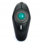 2.4GHz Wireless Finger Hand Held Trackball Mouse with USB Receiver - Black