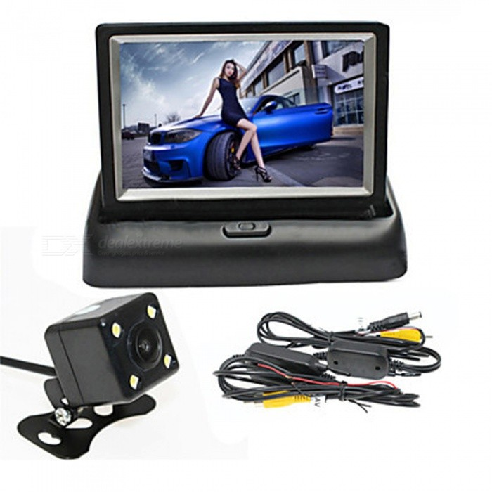 OJADE 4.3 Inches Folding Display Monitor + Wireless HD Car Rear View CameraRearview Mirrors and Cameras<br>ColorBlackModel4.3INCHQuantity1 setMaterialABSCompatible MakeOthersCompatible Car ModeluniversalStyleInternalPacking List1 x 4.3 Inch Folding Display Monitor1 x Car Rear View Camer<br>