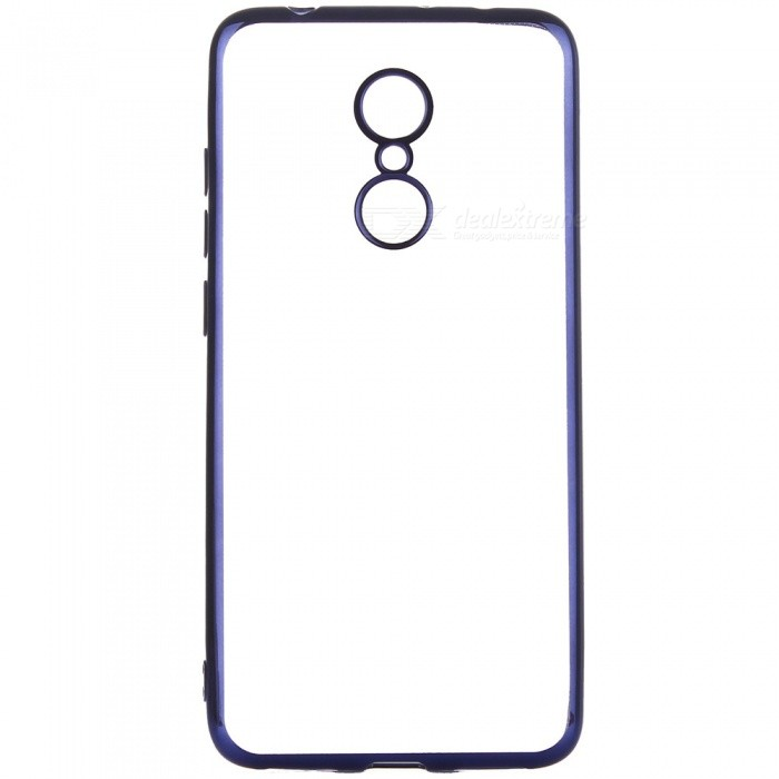 ASLING Transparent Back Case for Xiaomi Redmi 5, Electroplating TPU Soft Cover Protector - BlueTPU Cases<br>ColorBlueModelASL-Redmi 5MaterialTPUQuantity1 pieceShade Of ColorBlueCompatible ModelsRedmi 5Packing List1 x Protective Case<br>