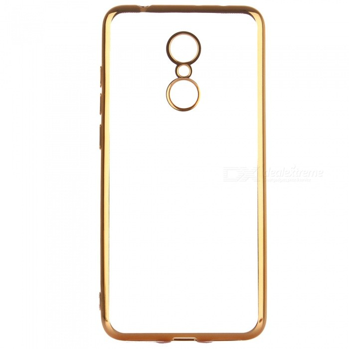 ASLING Transparent Back Case for Xiaomi Redmi 5, Electroplating TPU Soft Cover Protector - GoldenTPU Cases<br>ColorGoldenModelASL-Redmi 5MaterialTPUQuantity1 pieceShade Of ColorGoldCompatible ModelsRedmi 5Packing List1 x Protective Case<br>