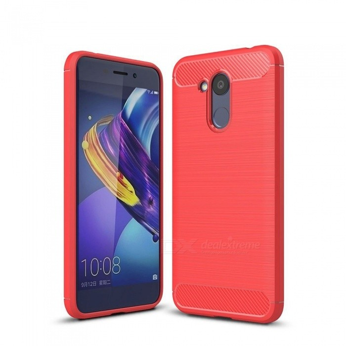 Naxtop Wire Drawing Carbon Fiber Textured TPU Brushed Finish Soft Phone Back Cover Case For Huawei Honor V9 PlayTPU Cases<br>ColorRedModelN/AMaterialTPUQuantity1 pieceShade Of ColorRedCompatible ModelsHuawei Honor V9 PlayPacking List1 x Case<br>