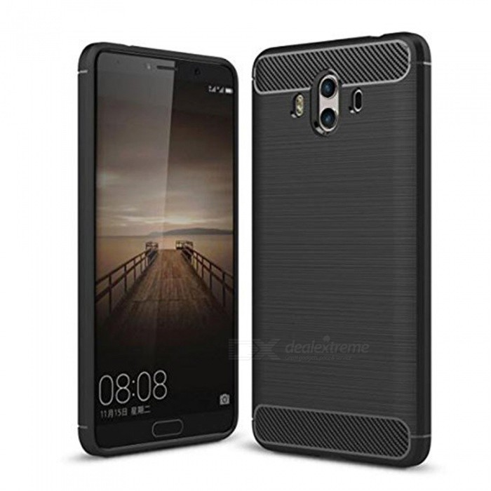Naxtop Wire Drawing Carbon Fiber Textured TPU Brushed Finish Soft Phone Back Cover Case For Huawei Mate 10TPU Cases<br>ColorBlackModelN/AMaterialTPUQuantity1 pieceShade Of ColorBlackCompatible ModelsHuawei Mate 10Packing List1 x Case<br>