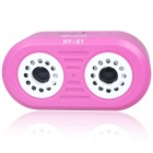 Rechargeable Battery Power MP3 Music Speaker with USB/LINE/TF Slot (Pink)