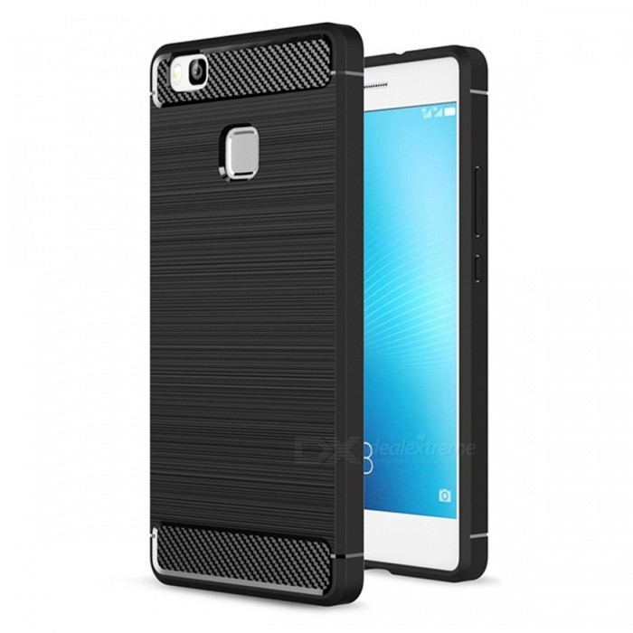 Naxtop Wire Drawing Carbon Fiber Textured TPU Brushed Finish Soft Phone Back Cover Case For Huawei P9 LiteTPU Cases<br>ColorBlackModelN/AMaterialTPUQuantity1 pieceShade Of ColorBlackCompatible ModelsHuawei P9 litePacking List1 x Case<br>