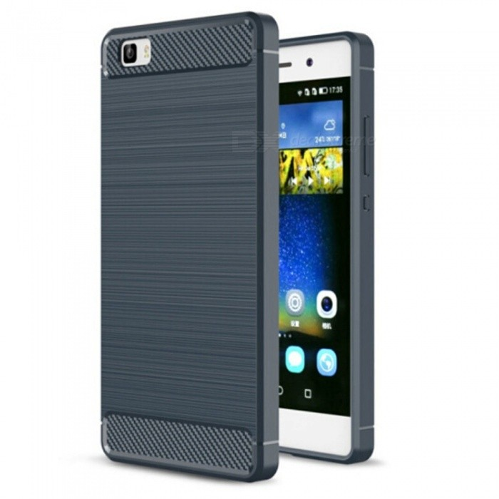 Naxtop Wire Drawing Carbon Fiber Textured TPU Brushed Finish Soft Phone Back Cover Case For Huawei P8liteTPU Cases<br>ColorBlueModelN/AMaterialTPUQuantity1 pieceShade Of ColorBlueCompatible ModelsHuawei P8litePacking List1 x Case<br>