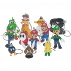 Cute Mario Figure Keychains - Assorted (12-Pack)