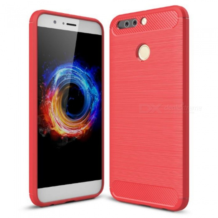 Naxtop Wire Drawing Carbon Fiber Textured TPU Brushed Finish Soft Phone Back Cover Case For Huawei Honor 8 Pro/Huawei Honor V9TPU Cases<br>ColorRedModelN/AMaterialTPUQuantity1 pieceShade Of ColorRedCompatible ModelsHuawei Honor 8 Pro/Huawei Honor V9Packing List1 x Case<br>