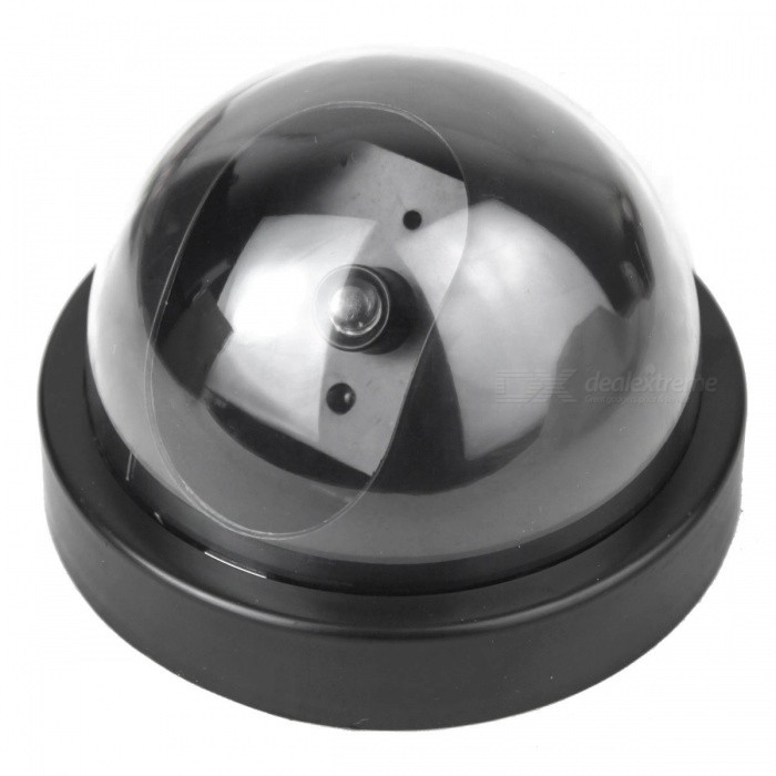 Realistic Dummy Decoy Security Camera with Blinking LED - Small (2 x AA)