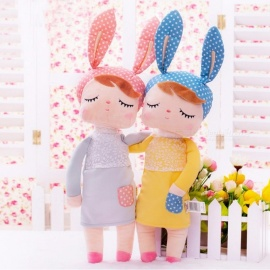 Kawaii Stuffed Plush Animals Cartoon Kids Toys for Girls Children Baby Birthday Christmas Gift, Angela Rabbit Girl Metoo Doll Yellow (4)