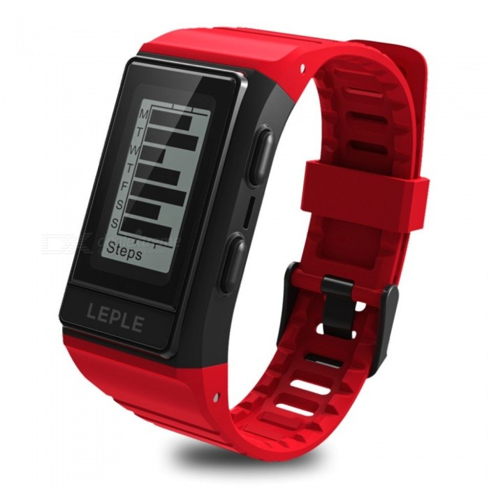 Outdoor S909 Smart Bluetooth Wristband with GPS, Heart Rate / Sleep Monitor, Electrocardiogram Mode, Multiple Sports Mode - Red