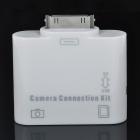 2-in-1 Camera Connection Kit with Card Reader for iPad - White (USB/SD) 