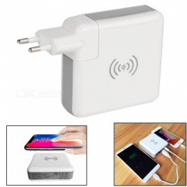 3-in-1 Wireless Mobile Phone USB Charger Adapter Power Bank