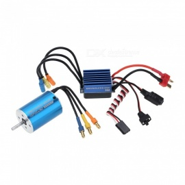 2838 3600KV 4P Sensorless Brushless Motor with 35A Brushless ESC Electronic Speed Controller for 1/14 1/16 1/18 RC Car