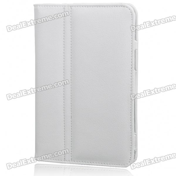 Protective PU Leather Case for Samsung Galaxy P1000 (White)