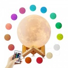 YouOKLight YK2302 3D Print LED 16 Colors Moon Style Light, Night Light with Remote Touch Control and Dimming, USB Recharge