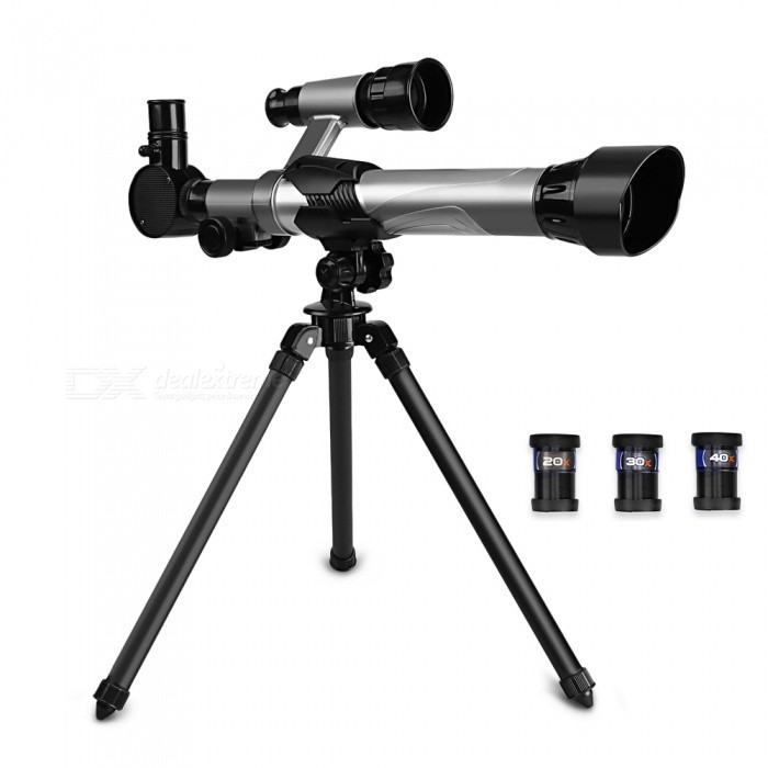 Children Astronomical Telescope - Black + Silver