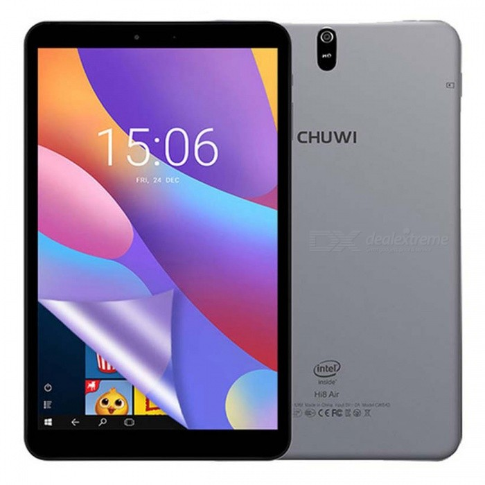 CHUWI Hi8Air 8.0 OGS Intel X5 Android 5.1+ Windows 10 Quad-Core Tablet with 2GB RAM, 32GB ROM - GreyAndroid Tablets<br>ColorGreyBrandCHUWIModelHi8AirQuantity1 pieceMaterialMetalProcessor BrandIntel othersProcessor ModelOthers,Intel X5 -Cherry Trail) Z8350/1.44-1.92GhzProcessor Speed1.44-1.92 GHzNumber of CoresQuad CoreBuilt-in Memory / RAM2GBCapacity / ROM32GBScreen Size8.0 inchesScreen Size7.8 inches~8.9 inchesScreen TypeIPSResolution1920 x 12003G TypeNoInterface1 x 3.5mmCamera type2 x CamerasStorage InterfaceTFBattery Capacity4000 mAhPacking List1 x Tablets1 x Power Adapter1 x USB cable<br>