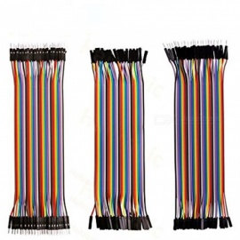 ZHAOYAO 120pcs 20cm Length Jumper Wires Dupont Cables 40pin M to F, 40pin M to M, 40pin F to F for Breadboard