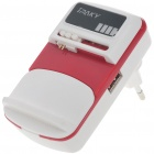 Universal USB Cell Phone Lithium Battery Charger - Red + White (EU Plug/110V~240V)