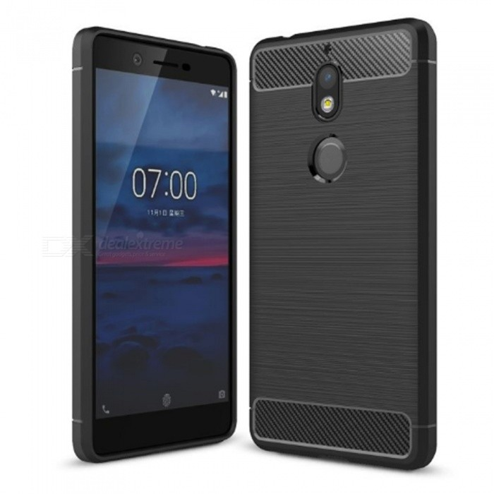 Naxtop Wire Drawing Carbon Fiber Textured TPU Brushed Finish Soft Phone Back Cover Case For Nokia 7 - BlackTPU Cases<br>ColorBlackModelN/AMaterialTPUQuantity1 pieceShade Of ColorBlackCompatible ModelsNokia 7Packing List1 x Case<br>