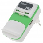 Universal USB Cell Phone Lithium Battery Charger - Green + White (EU Plug/110V~240V)