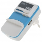 Universal USB Cell Phone Lithium Battery Charger - Blue + White (EU Plug/110V~240V)