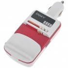 Universal USB Cell Phone Lithium Battery Car Charger - Red + White (DC 12~24V)