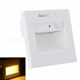 YouOKLight LED Warm White Light Motion Sensor Footlight Square Wall Light Lamp for Stairs Step Corner, AC85-265V