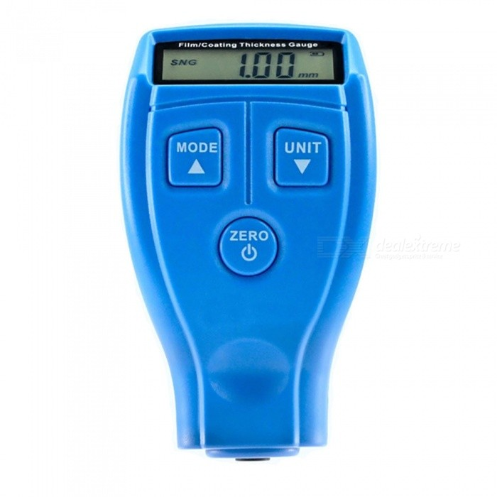 Measy GM200A Digital Mini Film Thickness Gauge Automotive Coating Ultrasonic Car Paint Iron Varnish Thickness Gauge Width MeterTesters &amp; Detectors<br>ColorBlueModelGM200AQuantity1 setMaterialABSPowered ByAAA BatteryBattery Number2Battery included or notNoPacking List1 x Coating Thickness Gauge 6 x Standards 1 x User Manual<br>