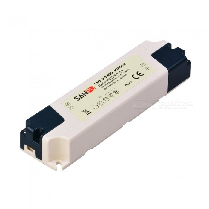 ZHAOYAO Non-Waterproof Rectangular 35W LED Power Supply (Input 100-240V, Output DC 24V)LED Power Drivers<br>ColorWhite + BluePower35WModelPC-35W-24VMaterialPCQuantity1 setWater-proofNoInput Voltage100-240 VOutput VoltageDC 24 VOutput Current1.45 AInput Current1.45 AWorking Current1.45 APacking List1 x LED power supply<br>