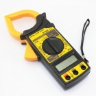 ZHAOYAO DT266 Digital Current Clamp Meter Buzzer Data Hold Non-contact Multimeter Voltmeter Ohmmeter Ammeter - Yellow