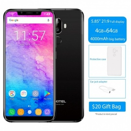 "OUKITEL U18 5.85"" 21:9 Full Display Face ID MT6750T Octa-Core Mobile Phone with 4GB RAM, 64GB ROM - Glod"