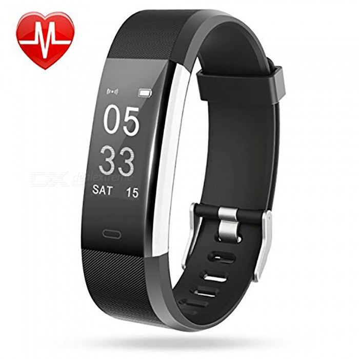 Measy ID115Plus Smart Bracelet with Heart Rate Monitor, Activity Tracker, GPS Tracker, Step Counter, Sleep Monitor - BlackSmart Bracelets<br>ColorBlackModelID115PlusQuantity1 setMaterialPC + TPEShade Of ColorBlackWater-proofIP67Bluetooth VersionBluetooth V4.0Touch Screen TypeOthers,OLEDCompatible OSAndroid 4.4 and iOS 7.1 or aboveBattery Capacity65 mAhBattery TypeLi-polymer batteryStandby Time5~10 daysPacking List1 x Smart Wristband 1 x User manual<br>