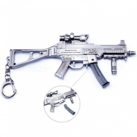 Game PlayerUnknown's Battlegrounds (PUGB) 14.5cm UMP9 Submachine Gun Model Toy Keychain - Gun Color + Bronze
