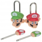 Cute Mario Figure Style Padlock & Key Set (2-Set)