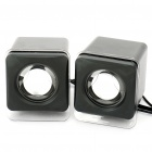 USB Rechargeable Portable MP3 Music Speaker for PC/Laptop (Pair/3.5mm Jack)