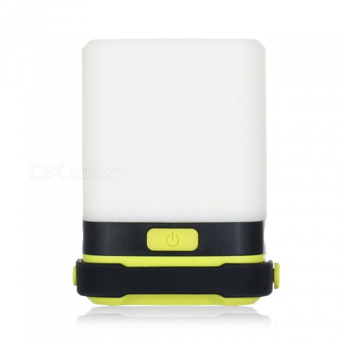 CTSmart DT-7108 Outdoor Camping Waterproof Super Bright Colorful Tent Light - Yellow GreenOutdoor Lantern<br>ColorYellow GreenModelDT-7108Quantity1 pieceMaterialABS + natural siliconeEmitter BINLEDNumber of Emitters1Color BINOthers,ColorfulBattery TypeAABattery Number1Battery included or notNoNumber of Modes3Actual Lumens200 lumensLantern TypeCandlePacking List1 x Camping Light<br>