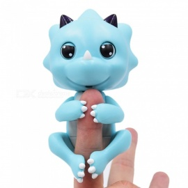 cute baby dinosaur style finger playing pet toy - azul