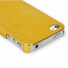 Water Drops Style Protective Plastic Back Case for Iphone 4 - Golden