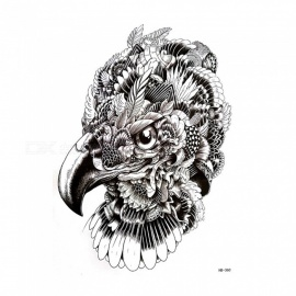 Non-Toxic Waterproof Eagle Head Pattern Paper Temporary Tattoo Sticker for Women Men Teenagers