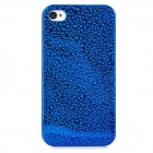 Water Drops Style Protective Plastic Back Case for iPhone 4 - Blue