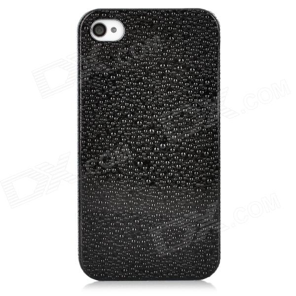 Water Drops Style Protective Plastic Back Case for Iphone 4 - Black water drops style protective plastic back case for iphone 4 golden
