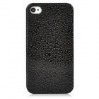 Water Drops Style Protective Plastic Back Case for Iphone 4 - Black