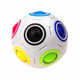 YJ Magic Rainbow Ball Cube 3D Puzzle Toy, Fidget Ball with Diameter 75mm